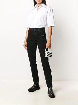 Black Straight Leg Denim Jeans