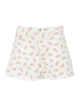 X The Webster White exclusive denim shorts PINK