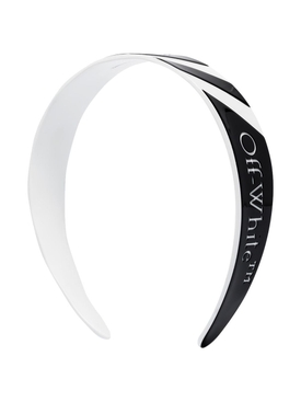 Black and white Striped Logo headband