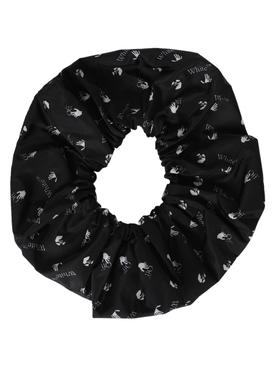 Logo hair scrunchie BLACK/WHITE