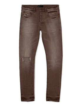 Distressed Faded Effect Jean Brown