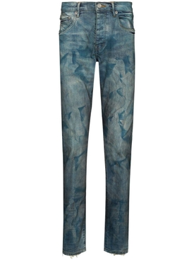 French Blue Bleached Effect Denim