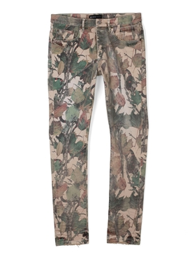 Washed Camo Jeans Tan Snake