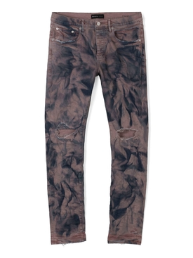Distressed Marble Print Jean Midnight Clay