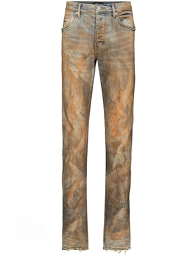 Rust Indigo Dirty Resin Denim