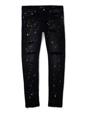 Paint Splatter Jeans Vintage Black