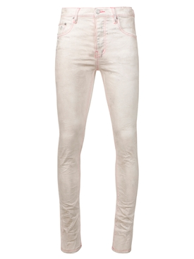 slim fit jeans white and neon pink
