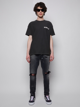 Paint Splatter Skinny Jeans Vintage Black