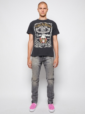 Distressed denim jeans vintage grey