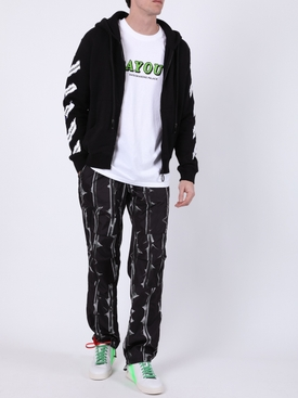 Thorns print pants black