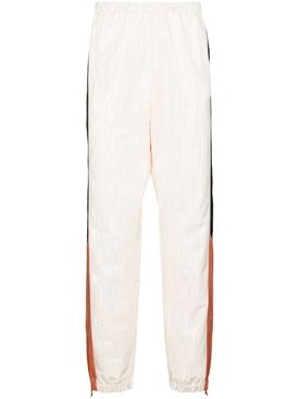Moire paneled tracksuit pants