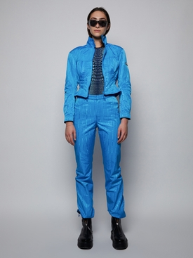 Cobalt Blue Zip Hem Trousers