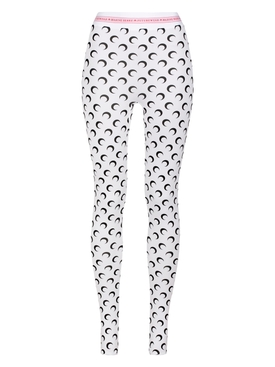 FUSEAUX MOON LEGGINGS ALL OVER MOON WHITE