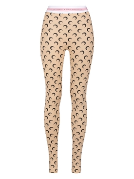 FUSEAUX MOON LEGGINGS ALL OVER MOON TAN