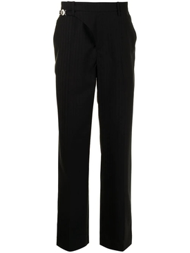 REGENERATED STRAPPED WAIST TAILORED PANT BLACK