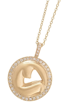 14K Gold Olympe de Gouges Diamond Necklace