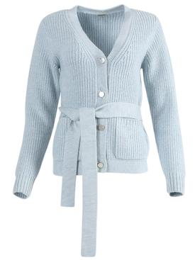 Blue slouchy wool cardigan