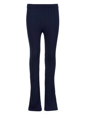 CREPE KNIT FLARE PANT NAVY