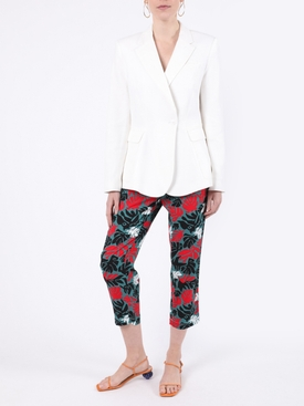 Multicolored floral cropped pants