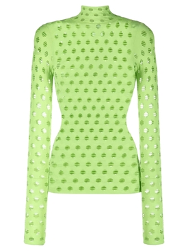 KNITTED PERFORATED TURTLENECK