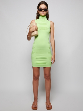 KNITTED PROPHECY DRESS GREEN
