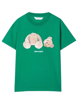 KID'S COTTON BEAR TEE Green and Brown