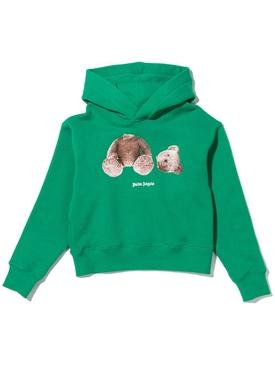 Kids Bear hoodie Green