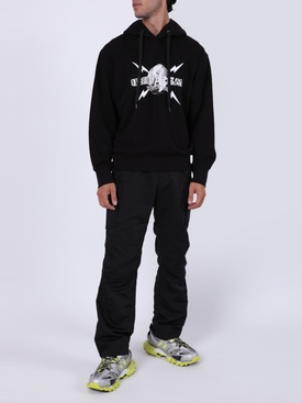 Universal logo hoodie BLACK/WHITE