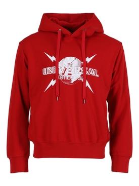 Universal logo hoodie RED/WHITE