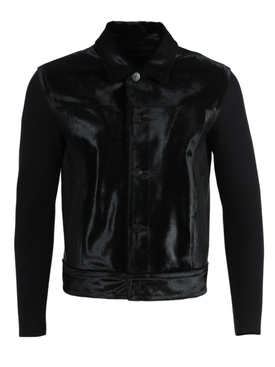 Neil Barrett - Black Leather And Wool Jacket - Men
