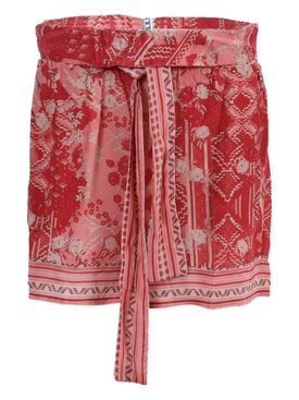 Red paracas shorts
