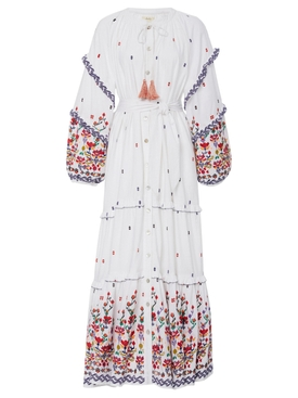 Chufy - White Kenko Floral Embroidered Dress - Women