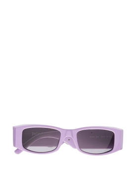 Rectangular Logo Plaque Sunglasses Violet Purple