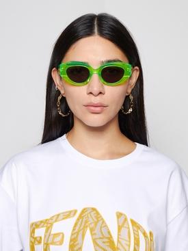 Petra Oval Sunglasses LIME GREEN