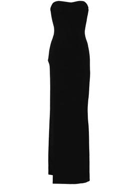 Black tube slit dress