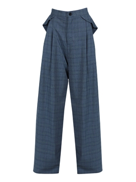 Grey Side Pleated Trousers