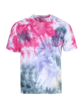 X NATASHA ZINKO Multicolored tie-dye peace sign t-shirt