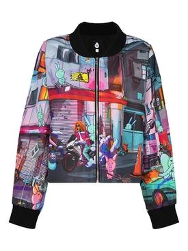 X NATASHA ZINKO Multi-print bomber jacket