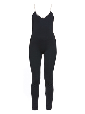 Black camisole catsuit