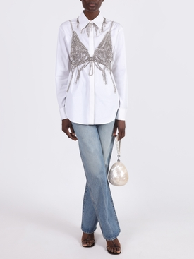 Embellished Butterfly net top