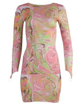 Long-sleeved dress, Mind Melt Pink