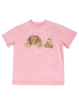 Kid's Bear Tee Pink and Brown