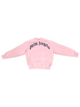 Kid's Front Logo Sweatshirt Pink and Navy