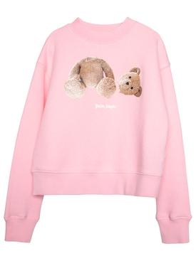 Kids Bear crewneck Sweater Pink