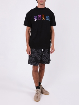 Multicolored Gothic Logo T-shirt BLACK/MULTICOLOR