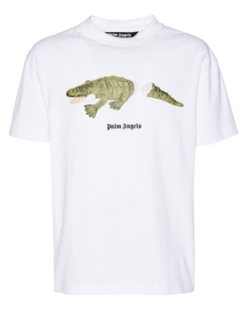 Croco t-shirt WHITE/GREEN