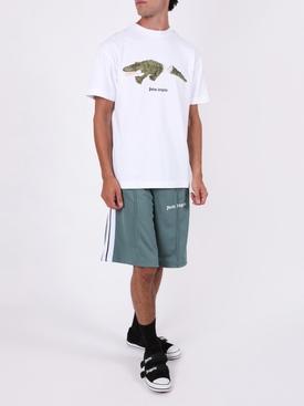 Croco t-shirt WHITE/GREEN