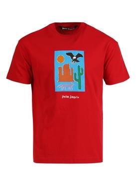 New folk t-shirt RED