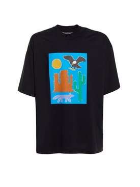 New folk t-shirt BLACK