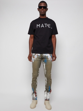 X MATE CLASSIC TEE BLACK AND SILVER